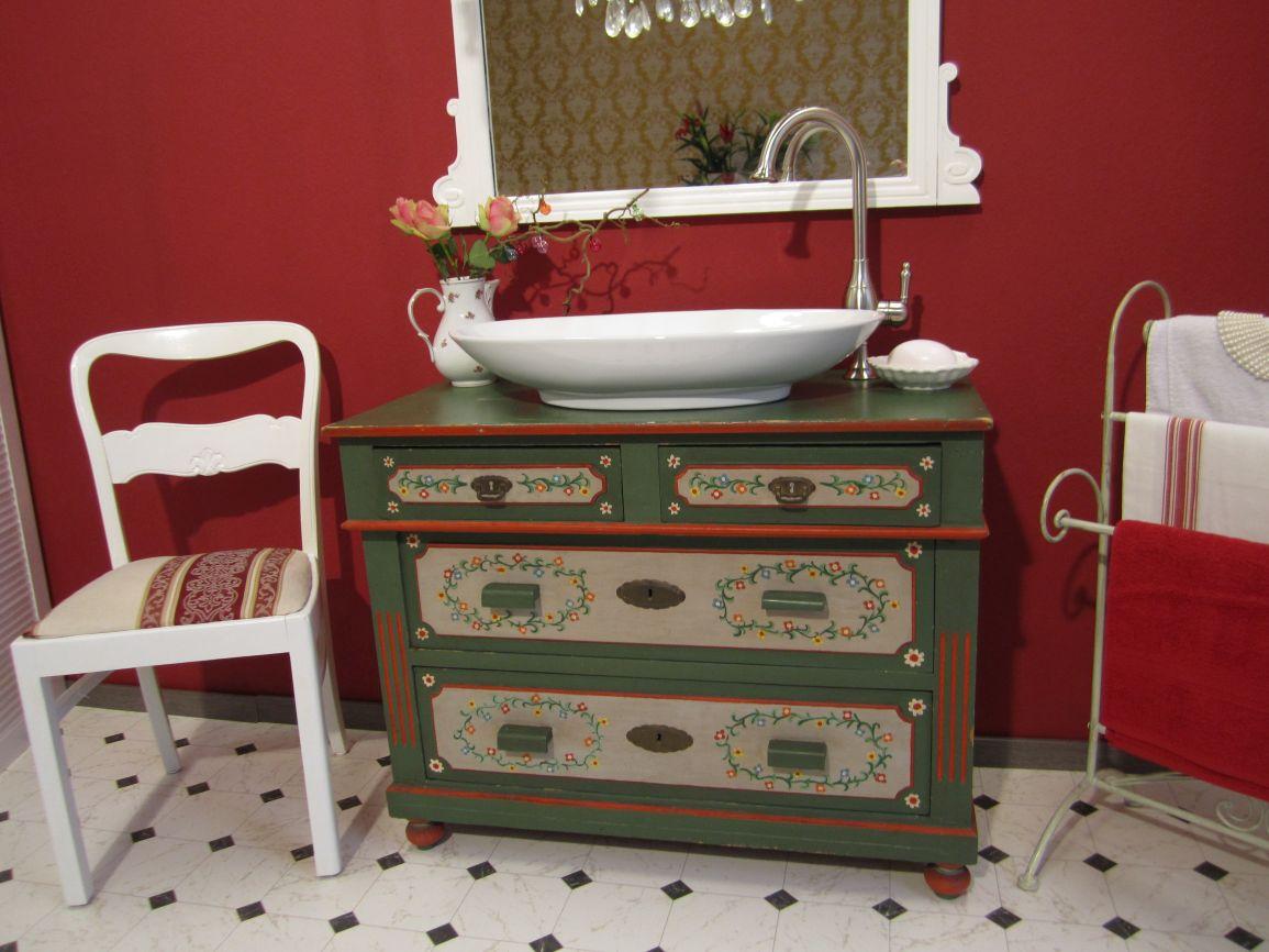 flower power landhaus waschtische zum verlieben. Black Bedroom Furniture Sets. Home Design Ideas