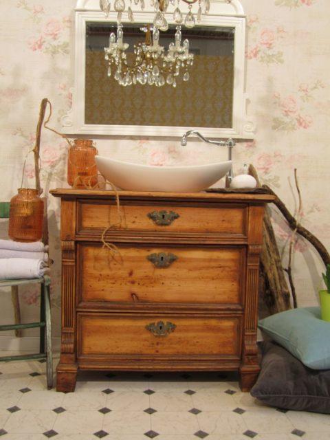 Fist Love - Landhaus Waschtisch Holz, Badmoebel antik, Badmoebel Landhaus, Waschtisch antik