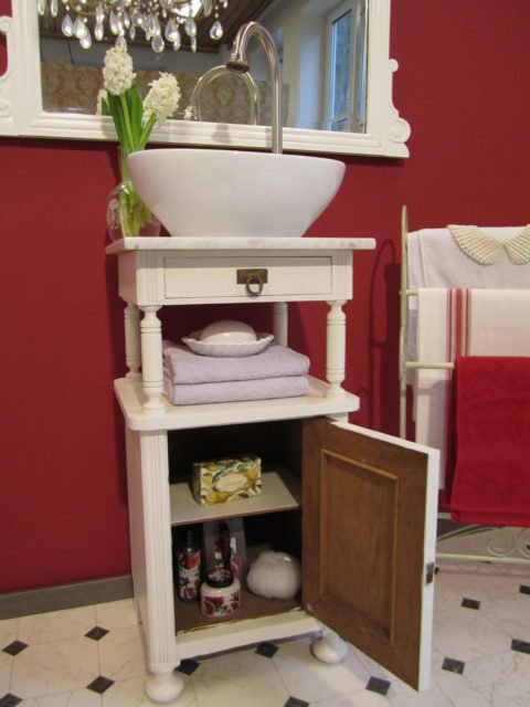 Sweet-Nightingale - Waschtisch Unterschrank Landhaus