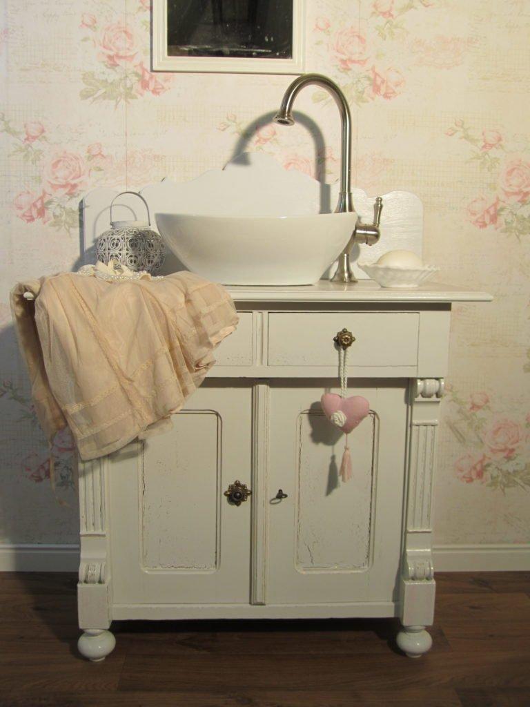 Waschtische mit Herz - Janvier - Nostalgischer Landhaus Waschtisch