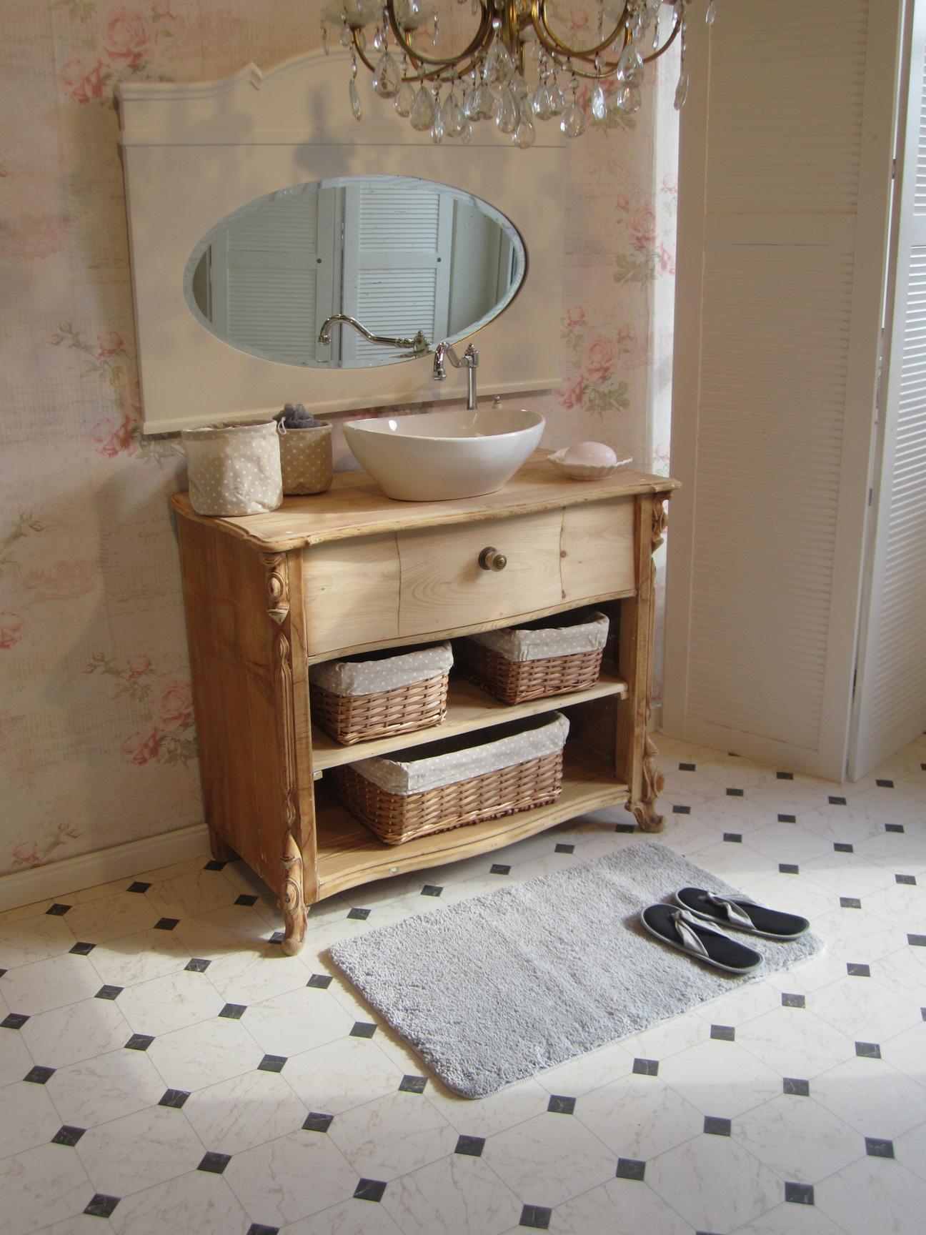 Waschtisch landhaus eiche  Ein Landhaus Waschtisch in Handarbeit und mit Liebe - Wasserheimat