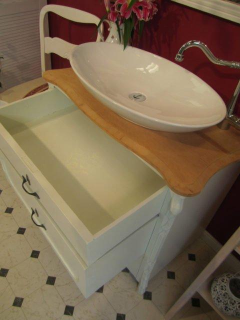Pistazia - Waschtisch Unterschrank Landhaus