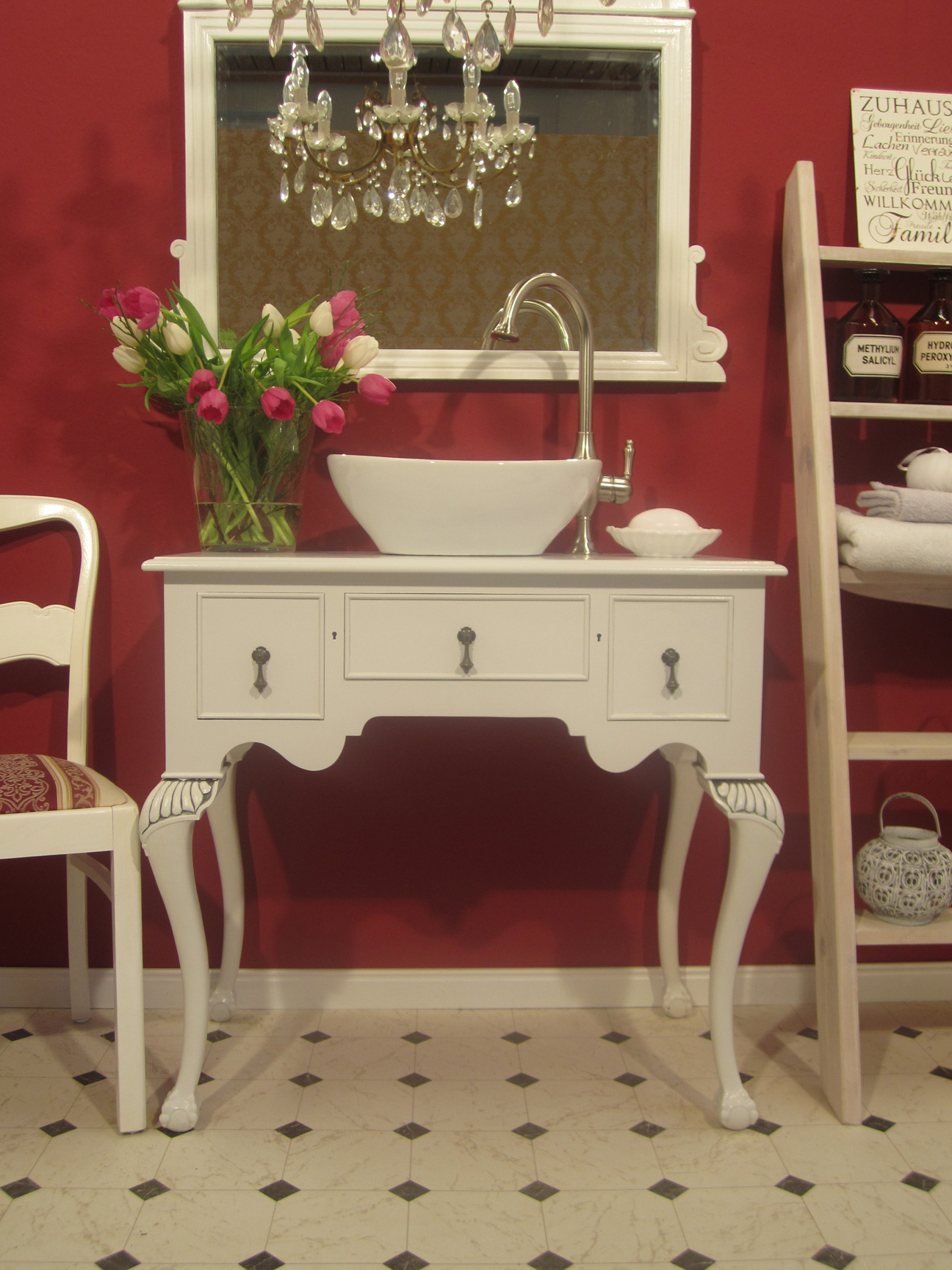 Waschtischunterschrank holz antik  Waschtischunterschrank Holz Antik: Vintage antik landhausstil holz ...