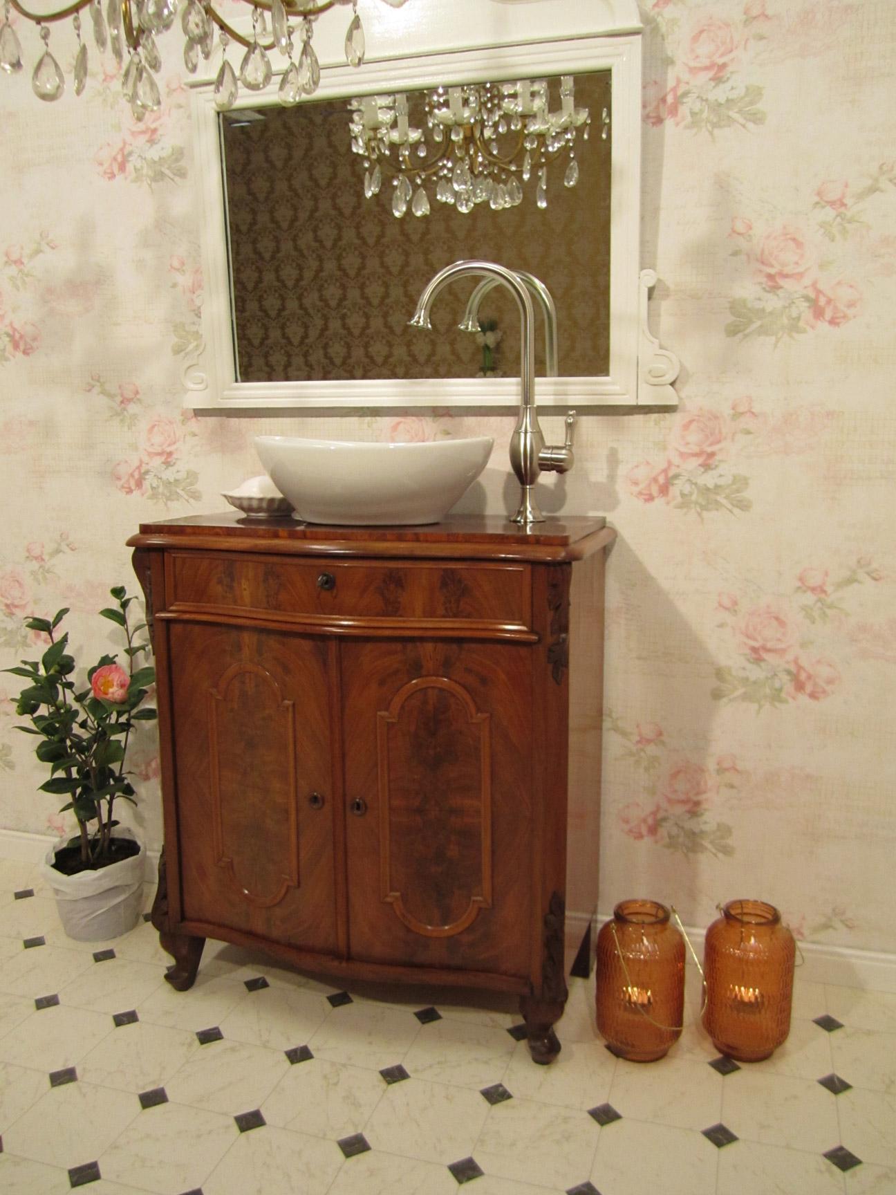 Individuelle Badmöbel antik entdecken - Wasserheimat | {Waschtisch holz landhausstil 22}