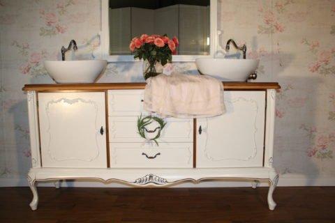 Le bain d'amour - Doppelwaschtisch Landhaus