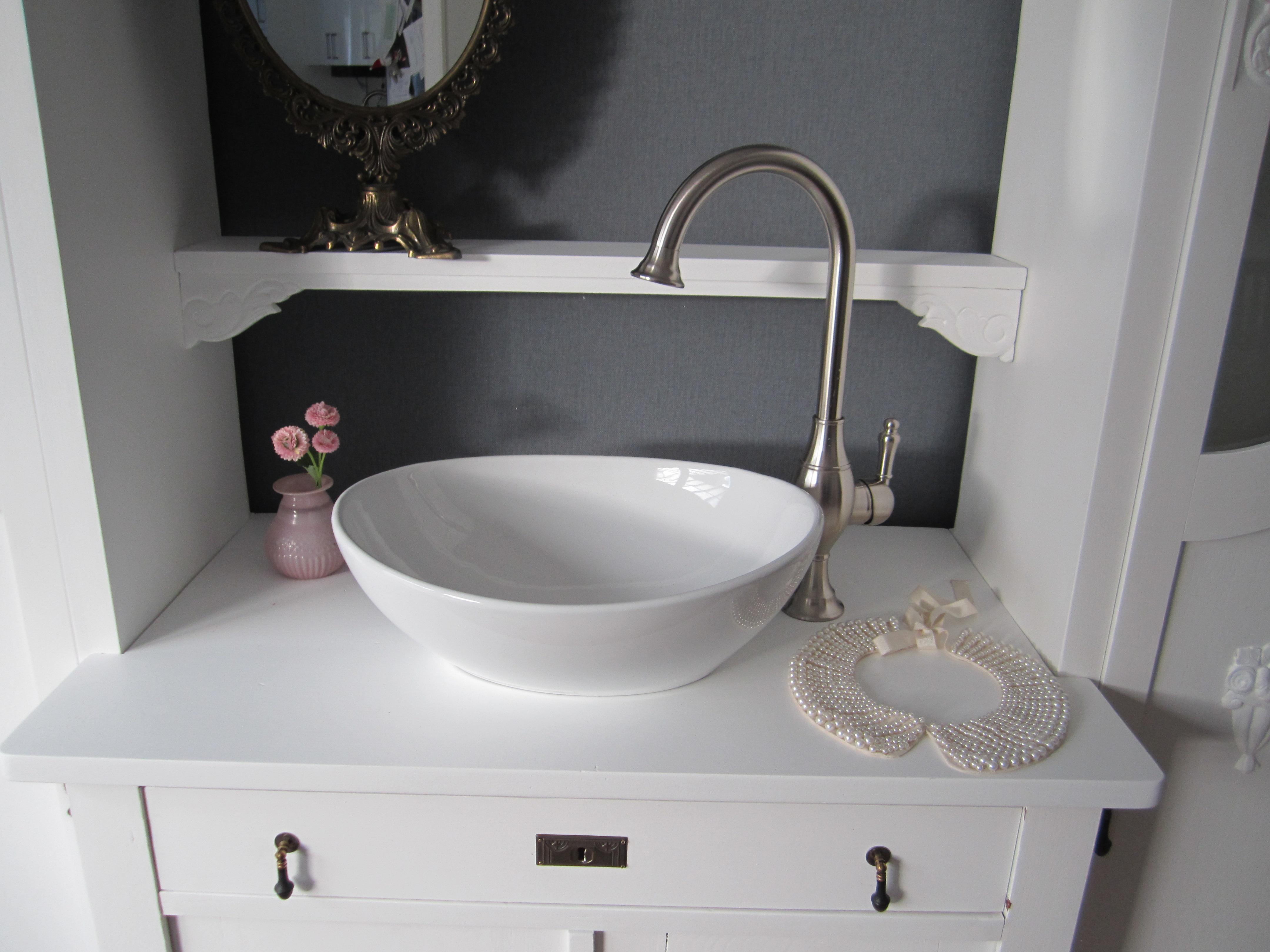 Zartes Landhaus Badezimmer Set in Weiß - Wasserheimat