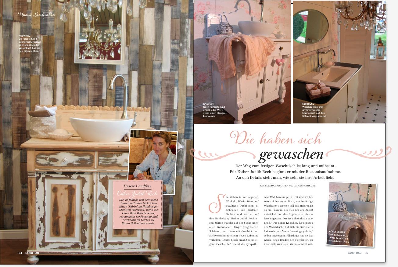 Zeitschrift Landhaus unsere badmöbel landhaus in der landfrau archive wasserheimat