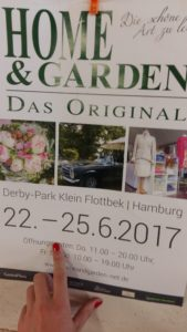 Vorankündigung für die Ausstellung Home&Garden 2017