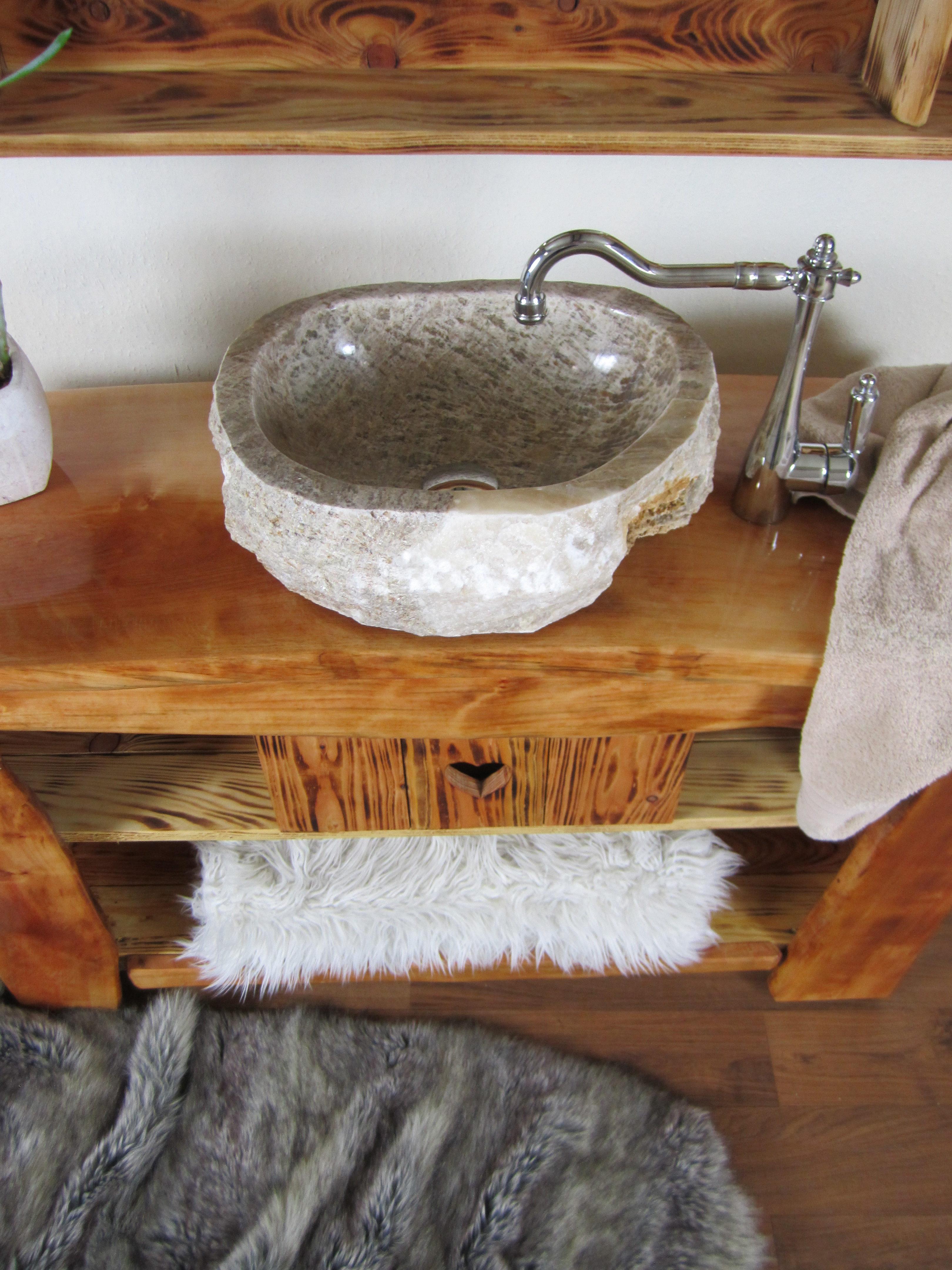 Exquisit Badmöbel Rustikal Dekoration Von Handgefertigtes Badmöbel - Calin Chaud