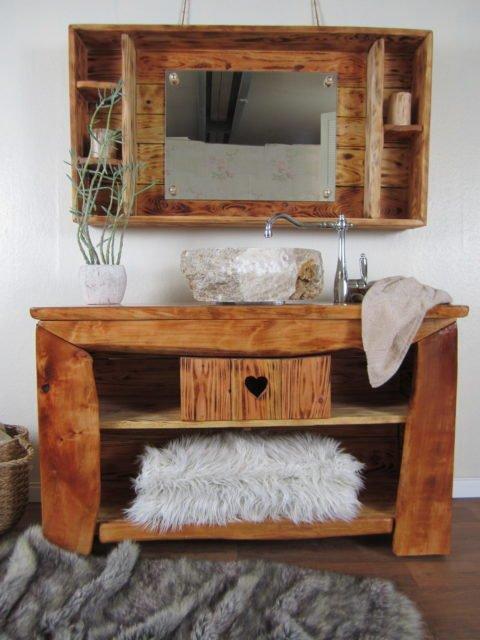 Handgefertigtes Badmöbel rustikal - Calin chaud