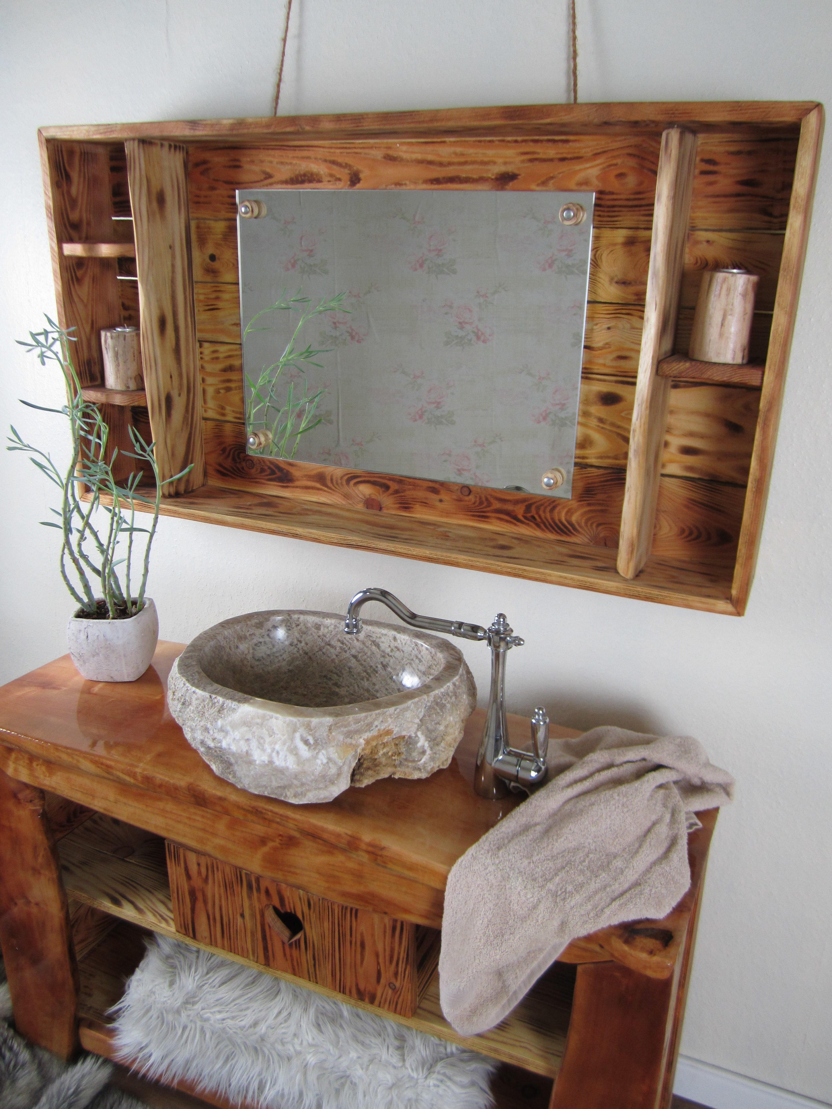 Ein Badmobel Rustikal Im Gemutlichen Chalet Stil Wasserheimat