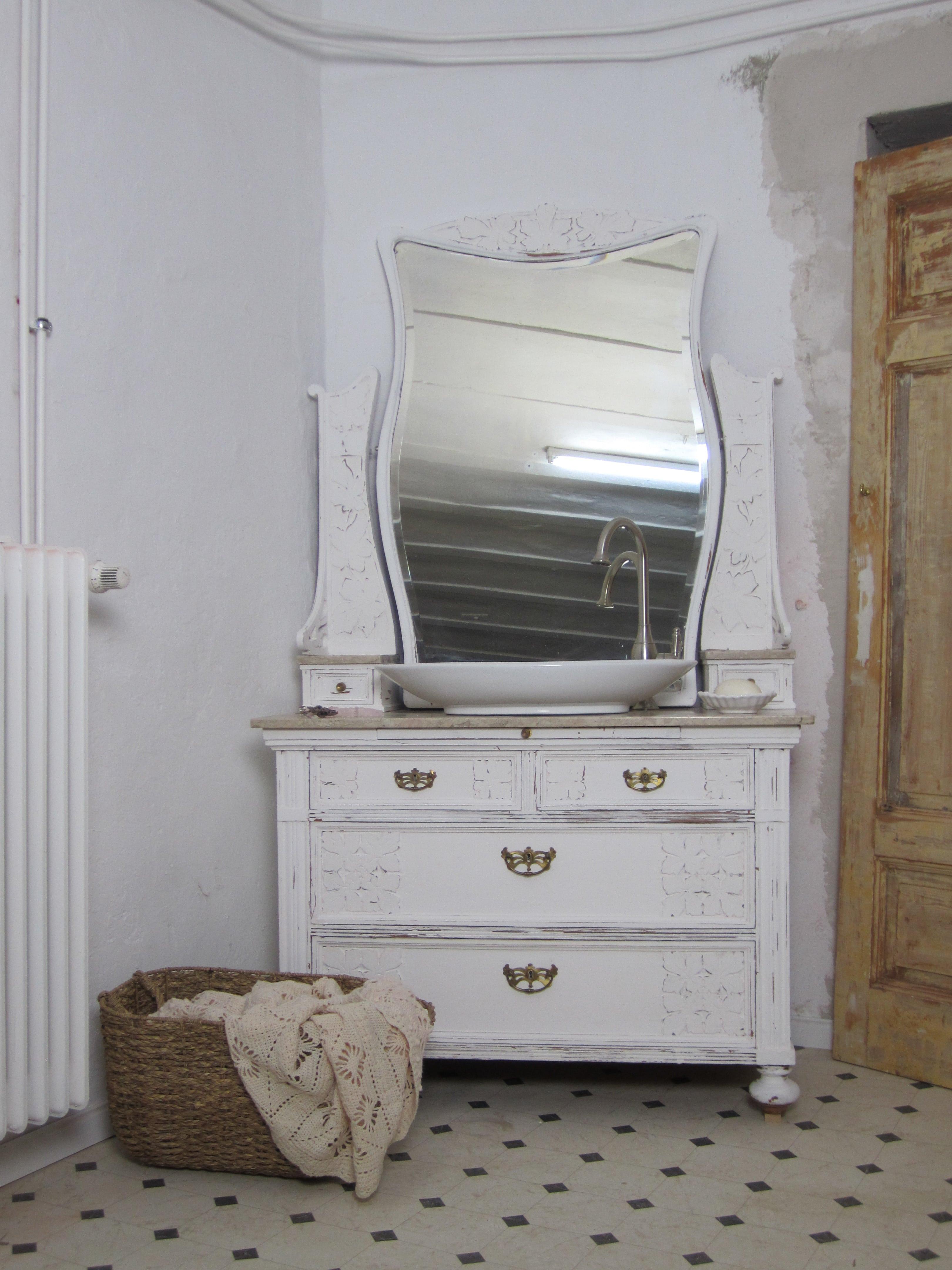 individuelle badmöbel landhaus spiegelkommode - wasserheimat