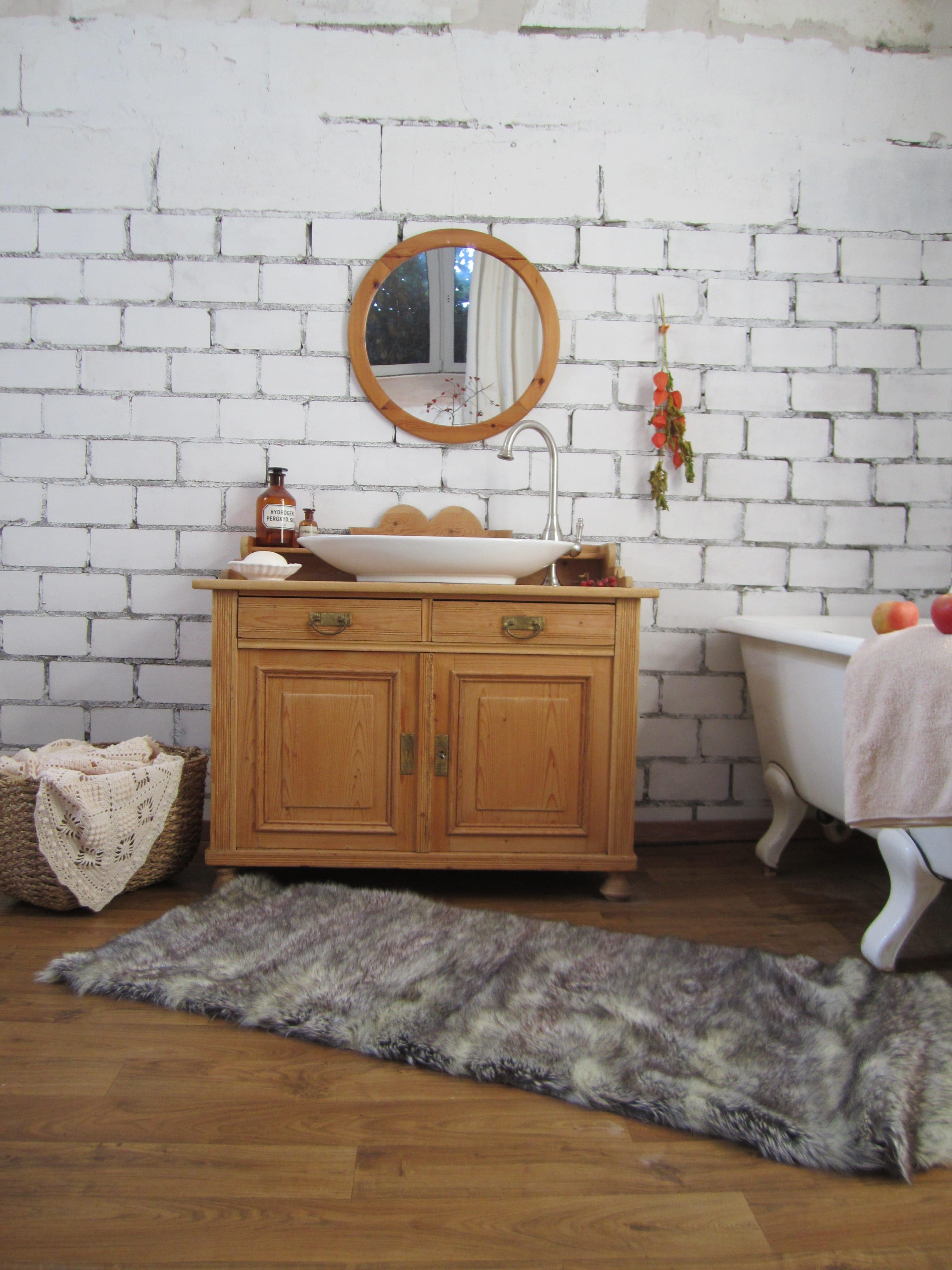 Waschschrank Landhaus Naturliche Badmobel Aus Der Wasserheimat