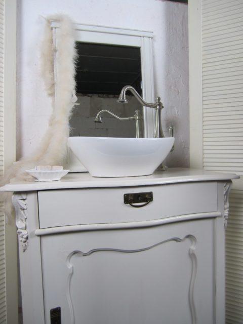Attitude - Weißes Badmöbel antik Landhausstil