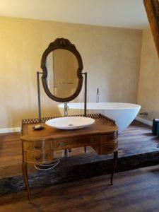 Landhaus Badmöbel mit Spiegelaufsatz